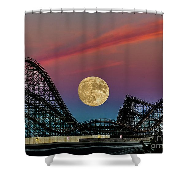 Moon Over Wildwood Nj Shower Curtain