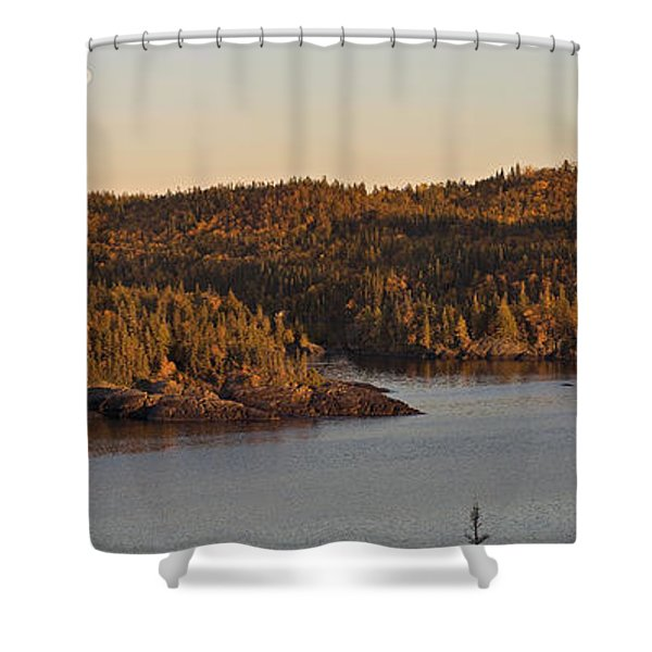 Moon Rise Over Pukaskwa Shower Curtain