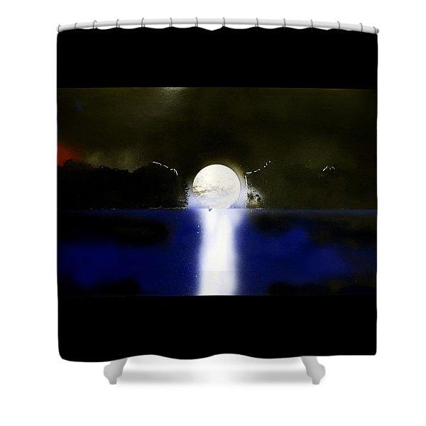 Moon Temple Shower Curtain