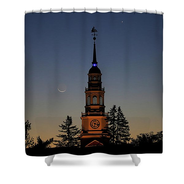 Moon, Venus, And Miller Tower Shower Curtain