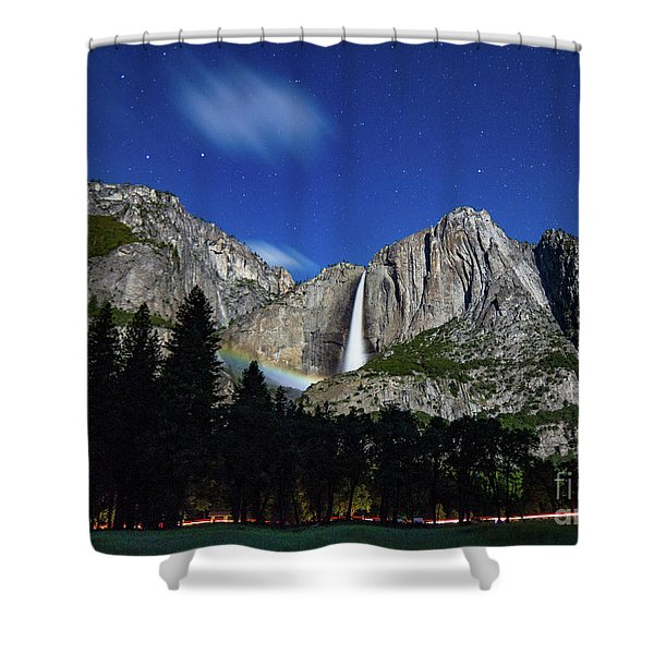 Moonbow And Louds  Shower Curtain