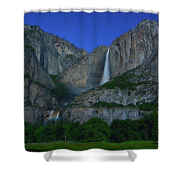 Moonbow Yosemite Falls Shower Curtain