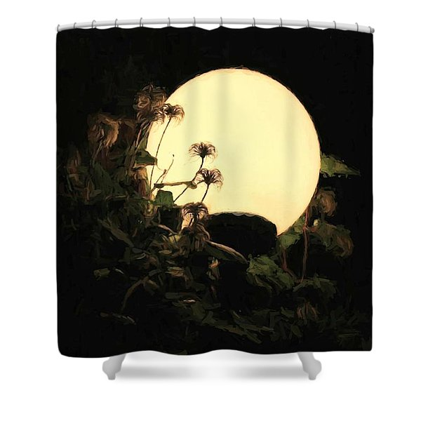Moonglow Thistles Shower Curtain
