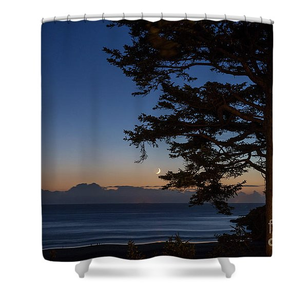 Moonlight At The Beach Shower Curtain