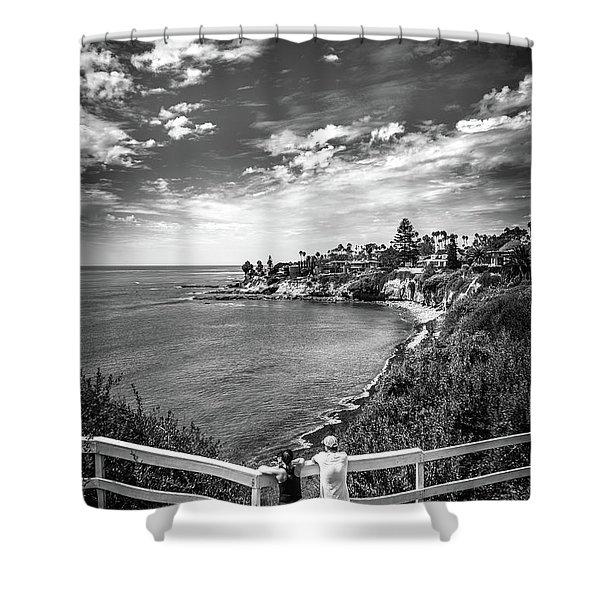 Moonlight Cove Overlook Shower Curtain