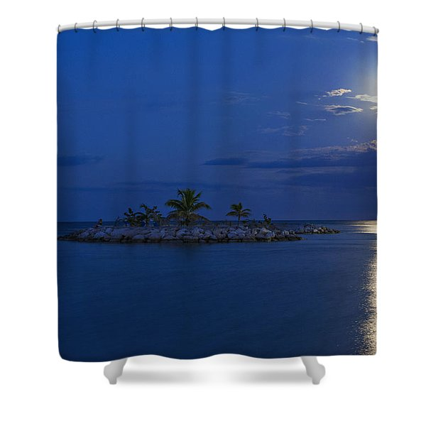 Moonlight Island Shower Curtain