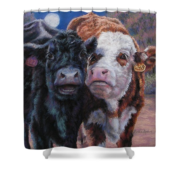 Moonlight Mooraoke Shower Curtain