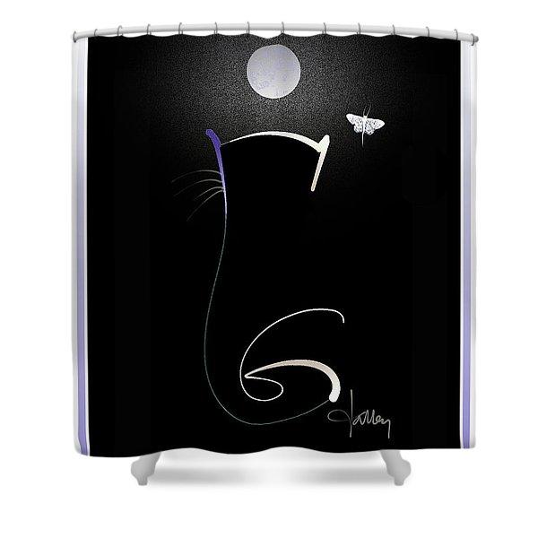 Moonlight Rendezvous 3 Shower Curtain