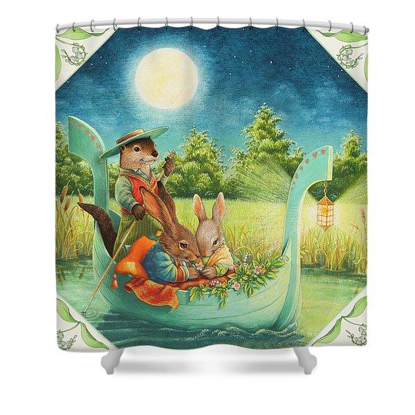 Moonlight Romance Shower Curtain