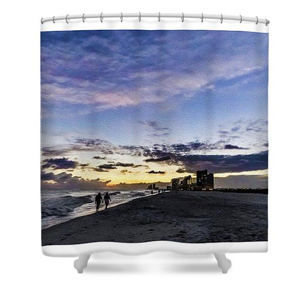 Moonlit Beach Sunset Seascape 0272b1 Shower Curtain