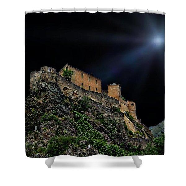 Moonlit Castle Shower Curtain