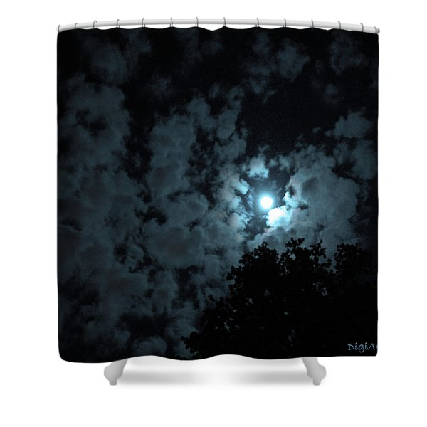 Moonlit Cotton Of The Sky Shower Curtain