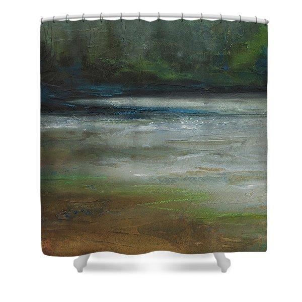 Moonlit Inlet 2 Shower Curtain