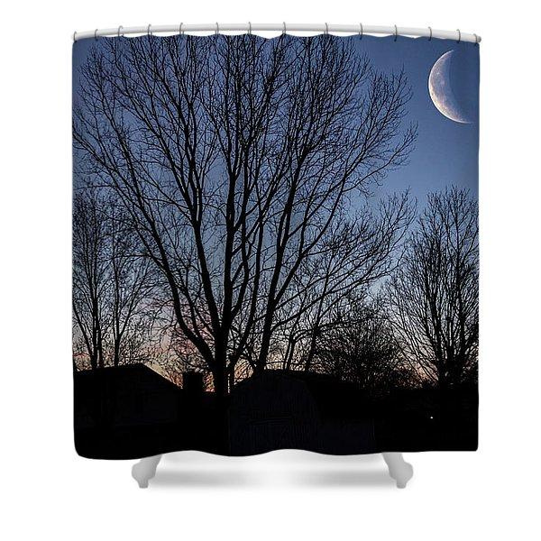 Moonlit Sunrise Shower Curtain