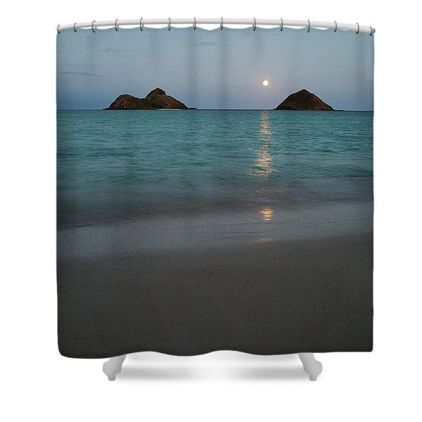 Moonrise At Lanikai Shower Curtain