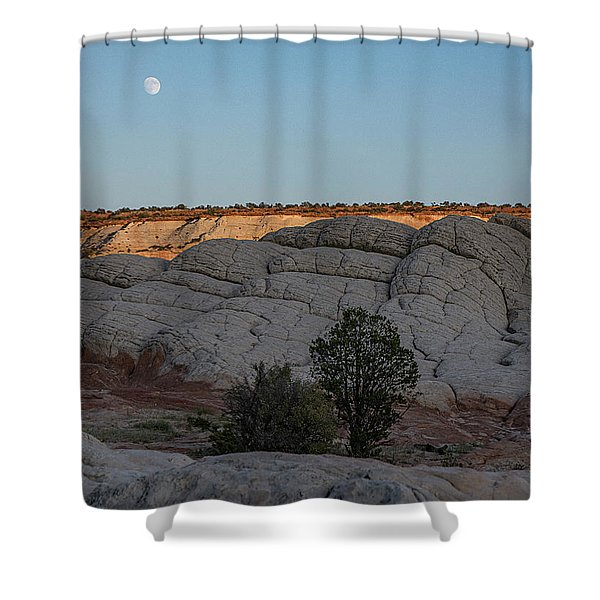 Moonrise At Sunset Shower Curtain