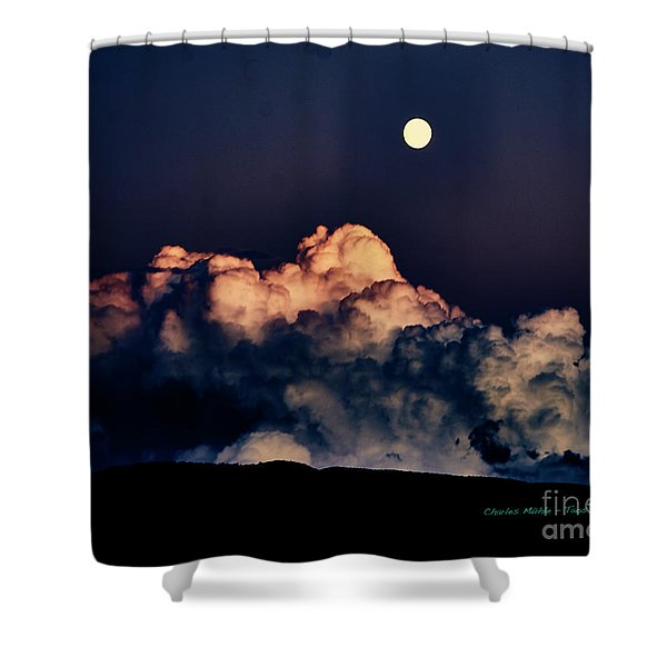 Moonrise In Taos Shower Curtain