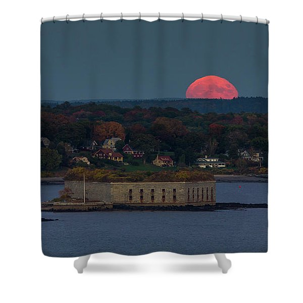 Moonrise Over Ft. Gorges Shower Curtain