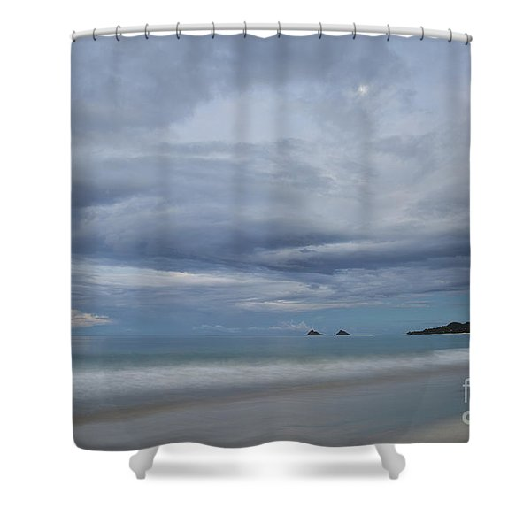 Moonrise Over Kailua Beach Shower Curtain