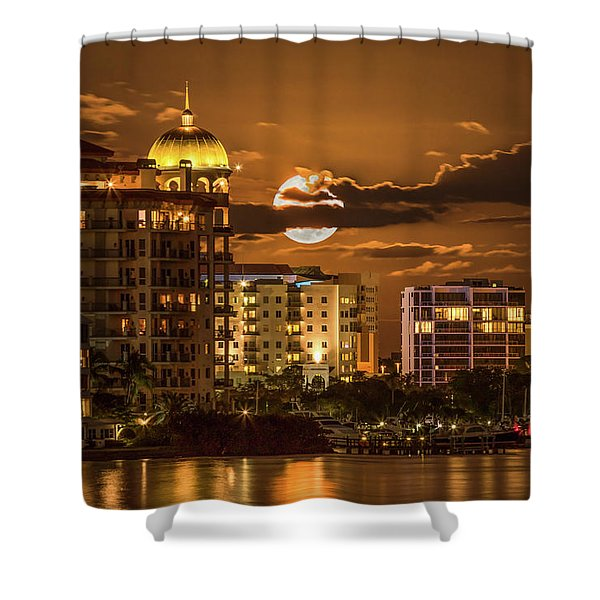 Moonrise Over Sarasota Shower Curtain