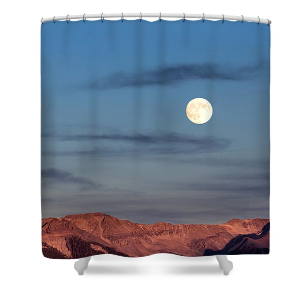 Moonrise With Afterglow Shower Curtain