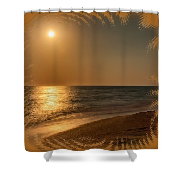 Moonscape 3 Shower Curtain