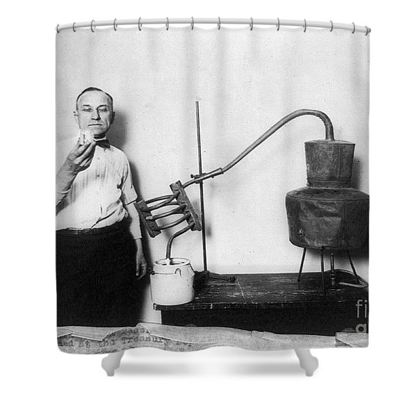 Moonshine Distillery, 1920s Shower Curtain