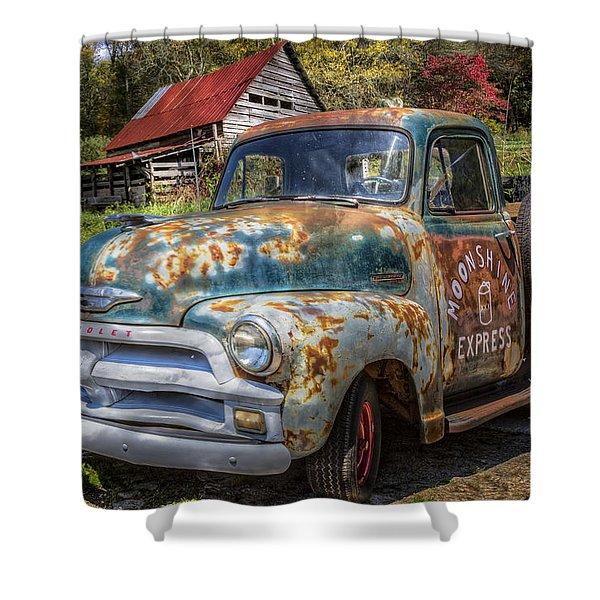 Moonshine Truck Shower Curtain
