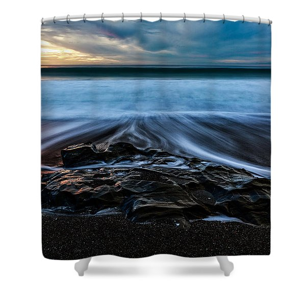 Moonstone Beach In The New Year Shower Curtain