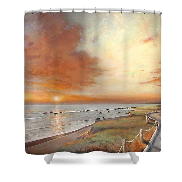 Moonstone Cambria Sunset Shower Curtain