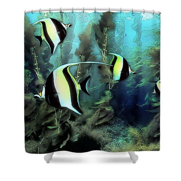 Moorish Idols - Tropical Fish Shower Curtain