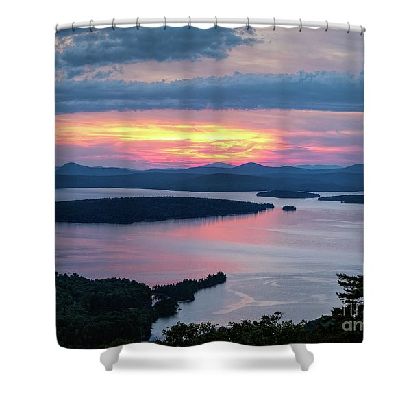 Mooselookmeguntic Lake In The Last Light Of Day - Rangeley Me  -63430 Shower Curtain