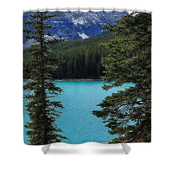 Moraine Lake 3 Shower Curtain