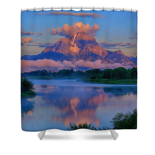 Moran Morning At Oxbow Bend Shower Curtain