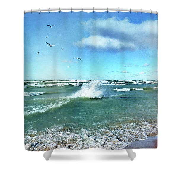 More Beautiful Than Yesterday Shower Curtain