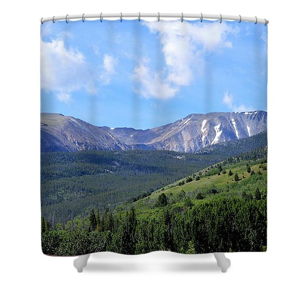 More Montana Mountains Shower Curtain