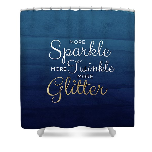 More Sparkle Blue- Art By Linda Woods Shower Curtain