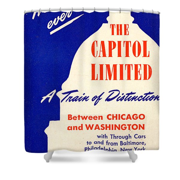 More Than Ever, The Capitol Limited Shower Curtain