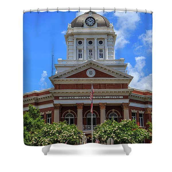 Morgan County Court House Shower Curtain