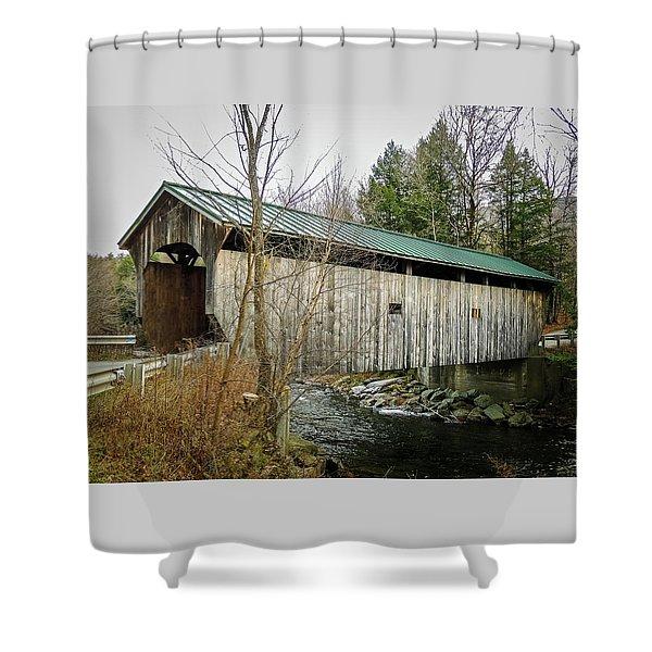 Morgan Covered Bridge Shower Curtain