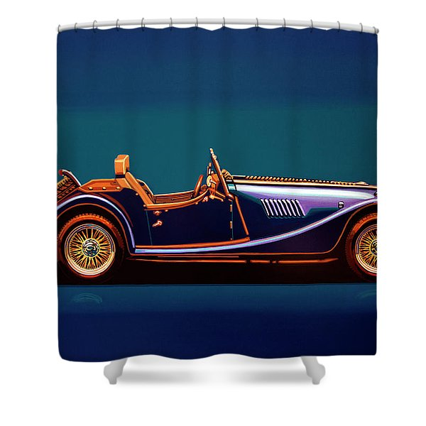 Morgan Roadster 2004 Painting Shower Curtain