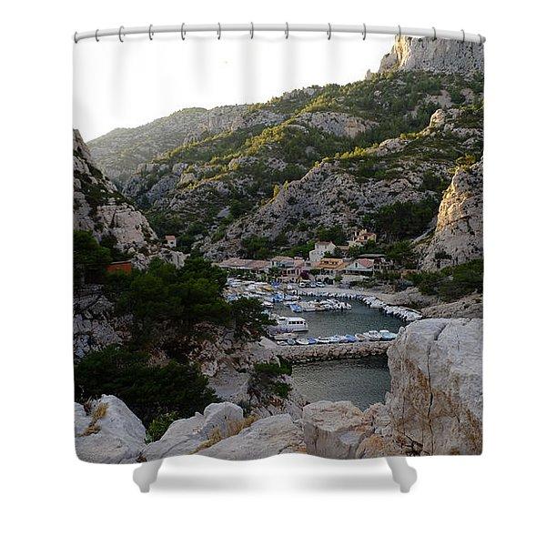 Morgiou Village Shower Curtain