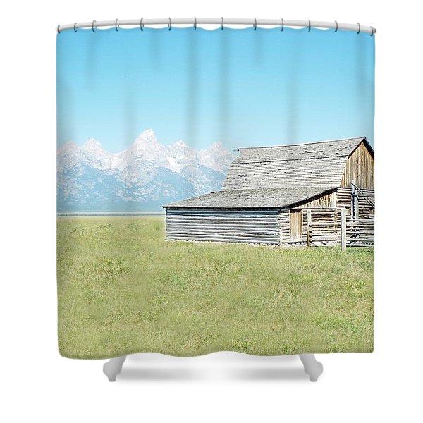 Mormon Row Barn - Grand Tetons Shower Curtain