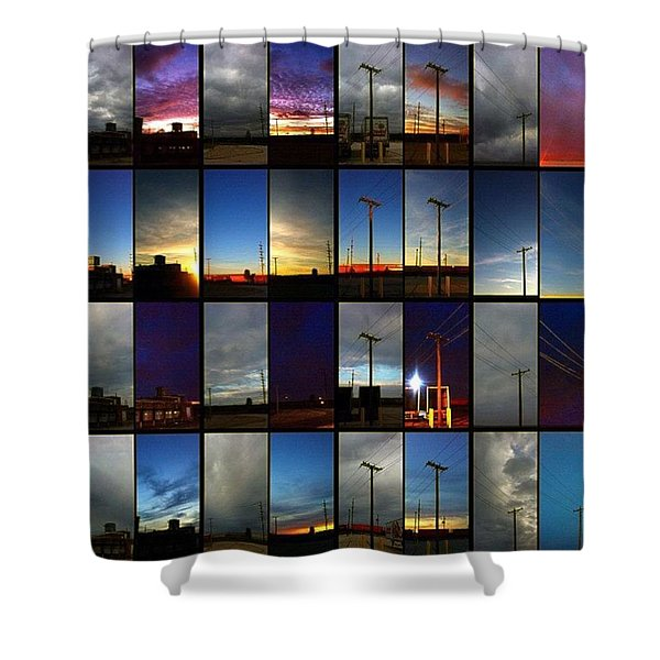 Morning And Evening Retrospective Shower Curtain