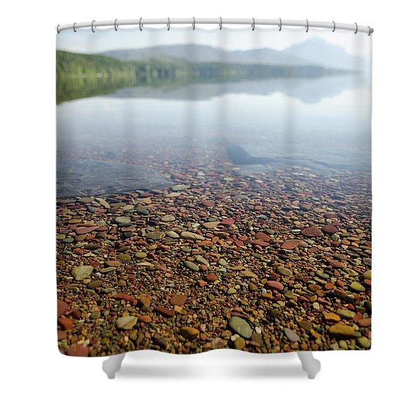 Morning At Lake Mcdonald Shower Curtain