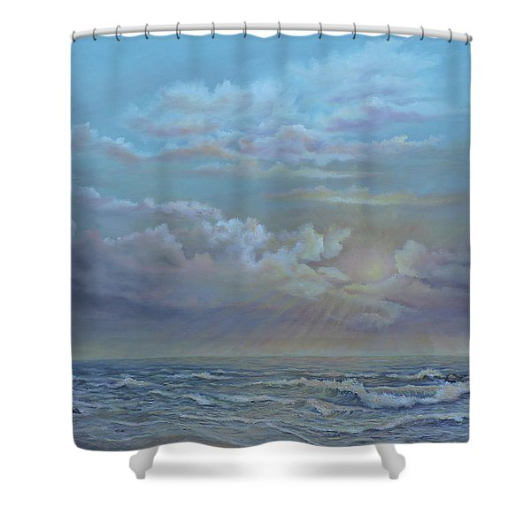 Morning At The Ocean Shower Curtain