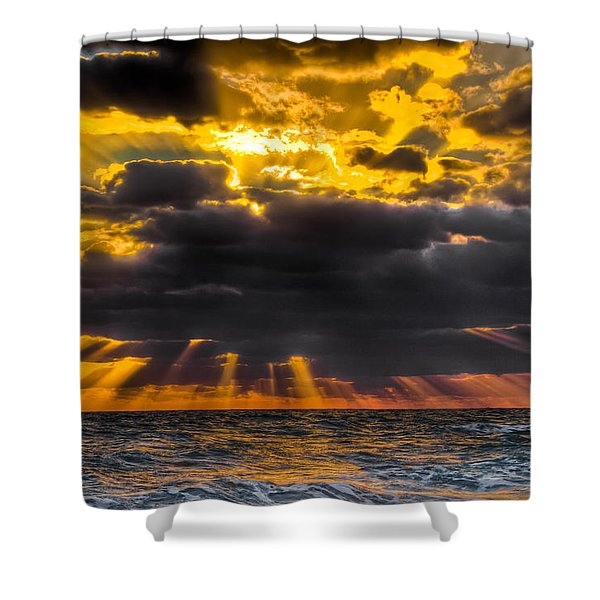 Morning Drama Shower Curtain