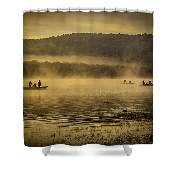 Catching Lunch Shower Curtain