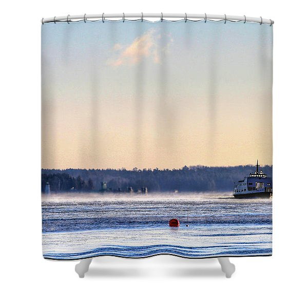 Morning Ferry Shower Curtain