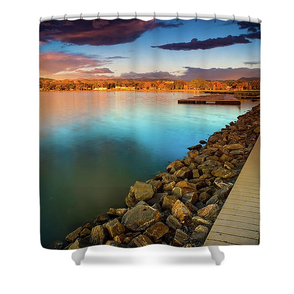 Morning Fleeting Light Shower Curtain